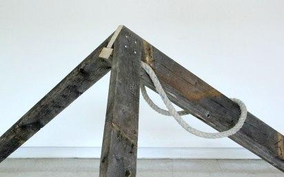 "2x4s, rope, fasteners, 36"" x 60"" x 48"", 2013"