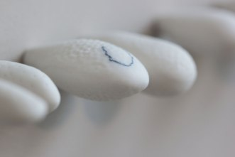 "Oxidation fired porcelain, oxide pencil. 2013. 34"" x 3/4"" x 2 1/4"""