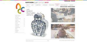 Northern Clay Center website screenshot