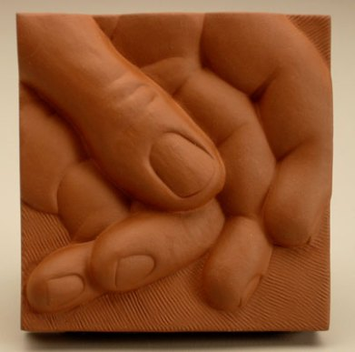 "terra cotta, 2006, 2 5/8"" x 2 5/8"" x 3/4"""