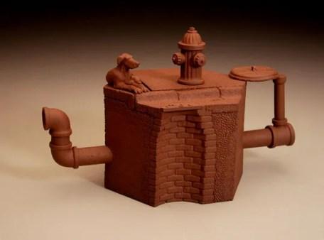 "stoneware (slipcast), 2006, 5 1/8"" x 8 1/4"" x 4 1/8"""