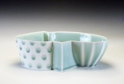 reduction fired porcelain, 3 ½ x 9 ¾ x 7 ¼