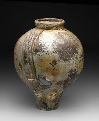 18x17x17, Stoneware, Shino Glaze, Wood Fired