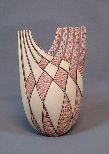 White Clay, Hand Shaping, 1050 C, 10x21x35 cm, Underglaze Brush Decoration, 2015
