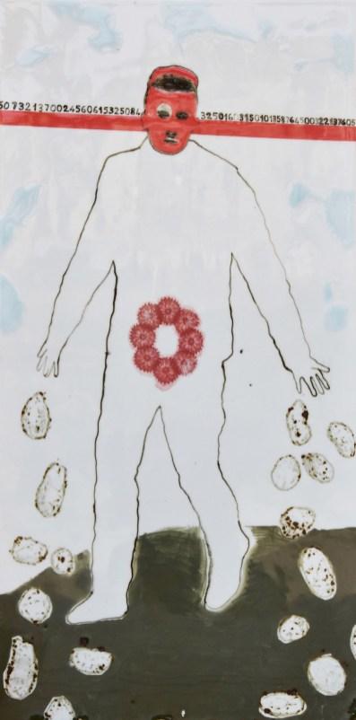 2017, porcelain with underglaze, glaze and transfers, 114x57,5cm