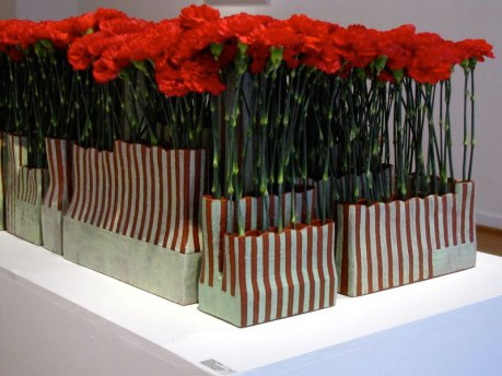 Red Carpet (detail), The Clay Studio, 2011