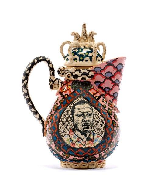 "Roberto Lugo, ""Rafael Cordero-Kalief Browder Teapot"""