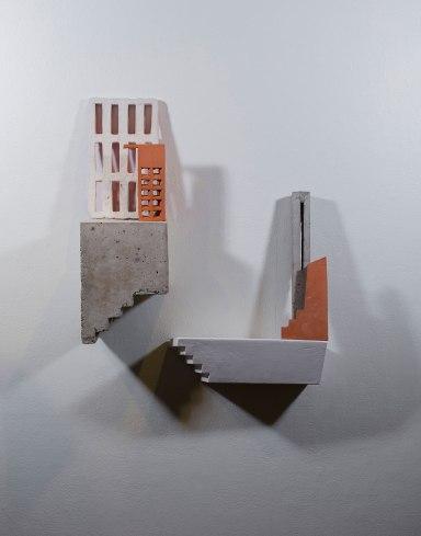 "earthenware, concrete, plaster, acrylic, 2017, 22"" x 7"" x 27"""