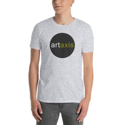 Grey Artaxis Round Logo T-shirt