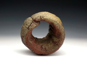 """7"""" x 7"""" x 7"""", Wood Fired Stoneware, Re-duction Cooled"""