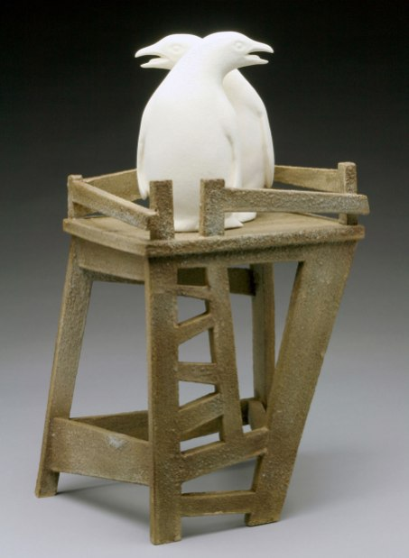 """Raft Lake Fable: """"project tree fort"""", hand built stoneware and slip cast"""