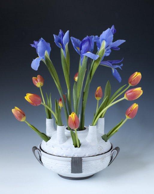 "Sanam Emami, ""Tulipiere; Vase with spouts"""