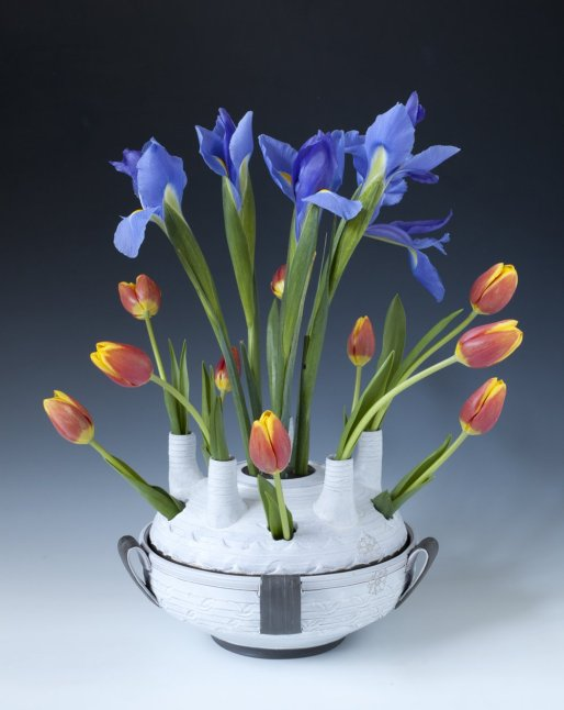 "Sanam Emami, ""Tulipiere; Vase with spouts"""