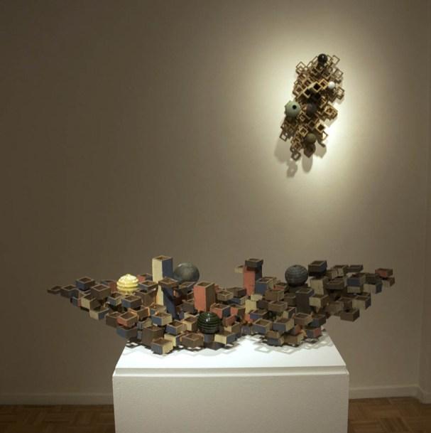 installation shot, Grossmont College, 2015, stoneware, cone 5