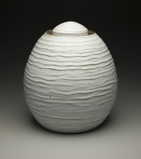 "14"" x 12"", iron rich stoneware w/ satin matte glaze, reduction cone 9"