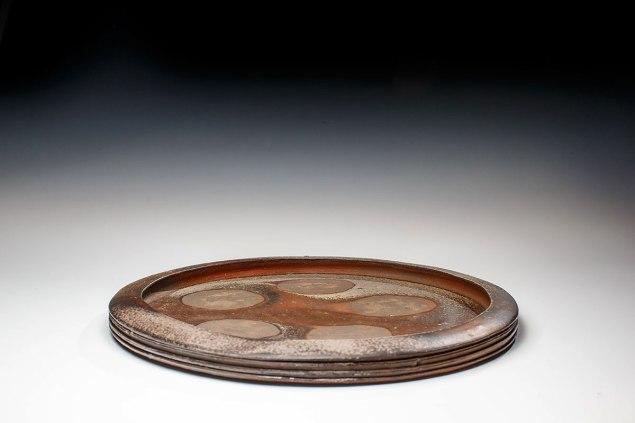 "Wood Fired Stoneware, 2013, 1""x14.5""x14.5"
