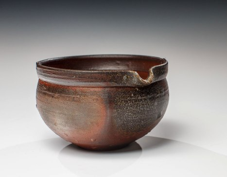 "Wood Fired Stoneware, 2013, 3""x4.25""x4.5"""