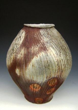 "20"" x 18"" x 18"", Wood-fired Stoneware"
