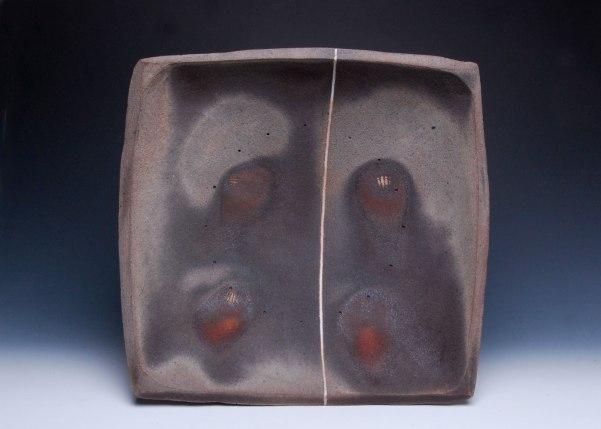 """22"""" x 22"""" x 5"""", Wood-fired Stoneware with inlaid glaze"""