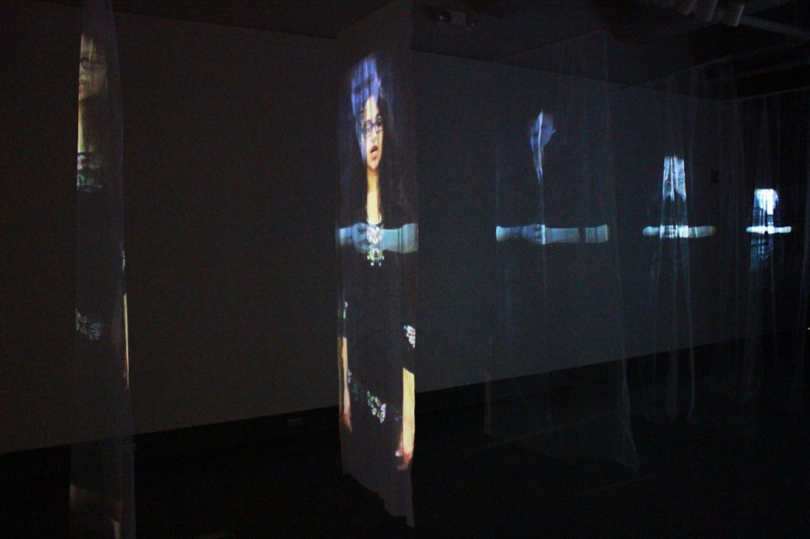 Dual video projections on various material, size varies on space, * see image list