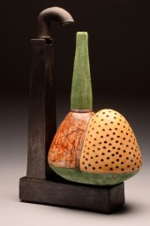 """26""""x20""""x8"""", stoneware, glaze, decal, 2013"""