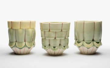 "6""x4""x4"" Porcelain, cone 8 ox."