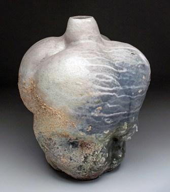 """2018, glazed stoneware, wood-fired, 18""""x14""""x12"""""""