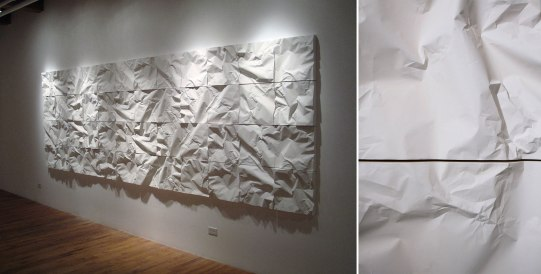 "cast porcelain, terra sigillata, dimensions variable (15 x 15 x 3"" tile), 2009"