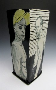porcelain with underglaze, 12x6x6