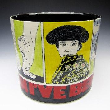 porcelain with underglaze, 8x10x10