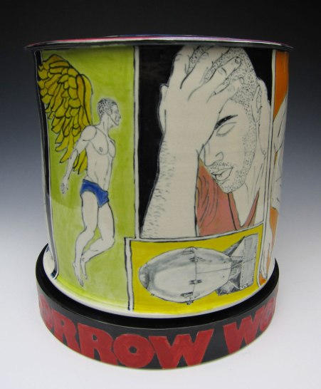 porcelain with underglaze, 10x10x10