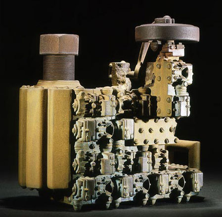 9 x 11 x 7 in., painted ceramic, 1999