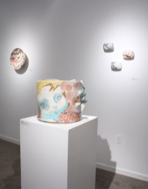 "2013, Porcelain with original silkscreened and vintage overglaze decals, Kutani raised enamels, gold, 13"" x 15"" x 16"""