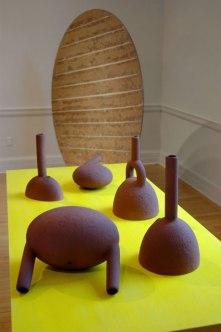 earthenware vessels, door, acrylic, dimensions variable, 2008