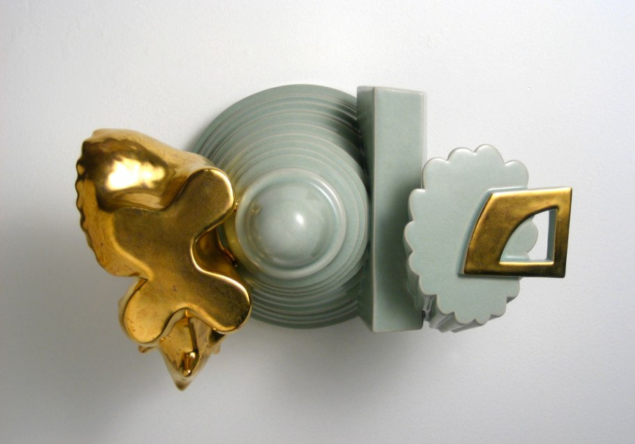 "William DePauw, ""Foundling Rest"", 2009, Glazed Porcelain with Lusters, 10x16x10"""