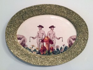"Wesley Harvey, ""double drips platter"""