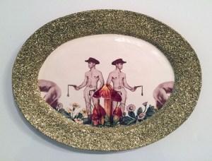 "Wesley Harvey, ""double drips platter"""