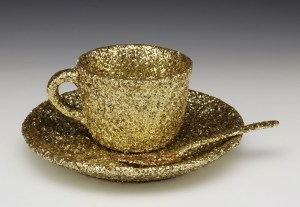 "Wesley Harvey, ""Meret Oppenheim's 'Object' reimagined by a homosexual, in gold"""