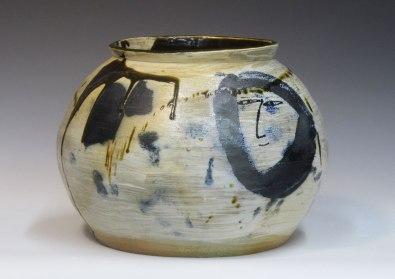 "8.6""w x 9""h x 8.6""d (inch), Porcelain, glazes, wood fired cone 10, 2014"