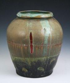 """8""""w x 14""""h x 8""""d (inch), Stoneware clay, glazes, soda & salt fired cone 10, 2013"""