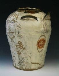 "8.7""w x15""h x8.5""d (inch), Stoneware clay, glazes, fired cone 8, decals, 2014"