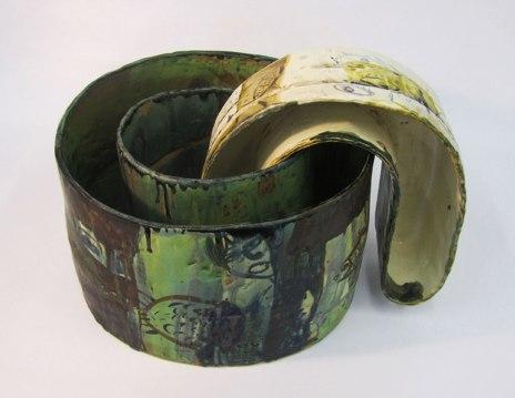 """21.5""""w x 14.3""""h x 16""""d (inch), Stoneware clay, glazes, fired cone 8, 2014"""