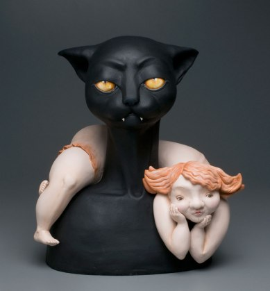 """Fired clay, paint. 19""""x17""""13"""""""