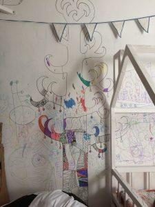 Раскраска на стену в детскую, арт терапия, творческое развитие, развитие креативности, развитие творческого мышления, декор детской, дизайн детской