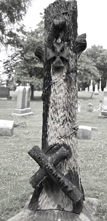 tree with crosses