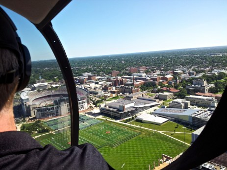 OSU Stadium and Campus from a helicopter