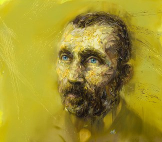 Vincent Van Gogh in Yellow - limited edition print 5/20 - Mathieu Laca - 2020