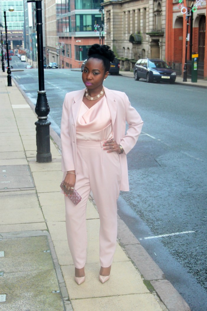 blush nude trouser suit b