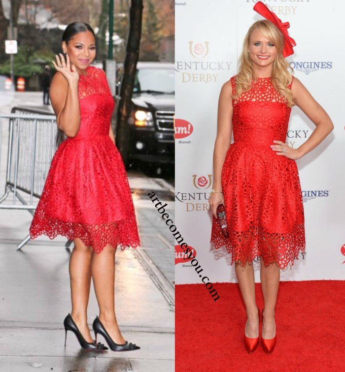 whore it better: Red Lace Gidgette Dress by Randi Rahm Better: Ashanti or Miranda Lambert