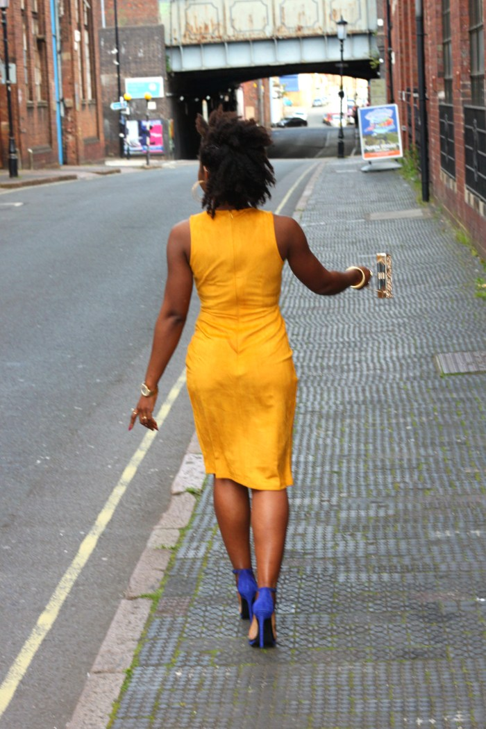 suede missguided yellow dress